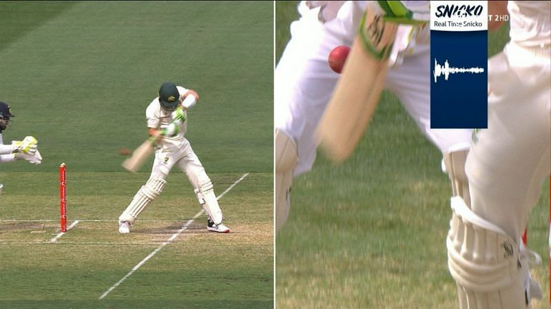 Tim Paine was given out caught behind in the second innings of the Boxing Day Test