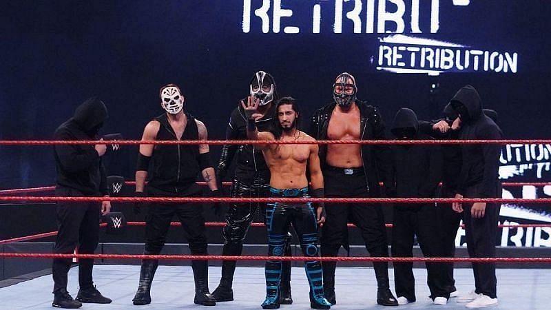 WWE का मौजूदा खतरनाक फैक्शन द रेट्रीब्यूशन (अली, रेकनिंग, टी-बार, स्लैपजैक, मेस)