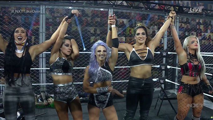 Candice LeRae's team wins brutal Women's WarGames match at NXT TakeOver
