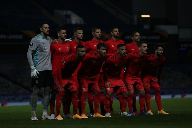 Benfica sit second in the Primeira Liga