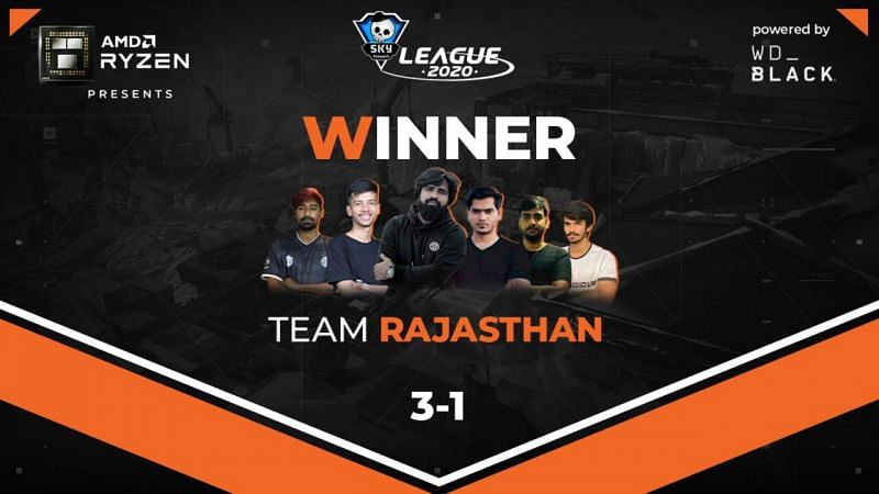Team Rajasthan will face Team Hyderabad in the Grand Finals (Image via Skyesports)