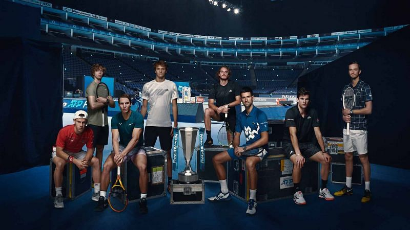 Novak Djokovic, Rafael Nadal, Dominic Thiem and the rest of the top 8 players at the ATP Finals