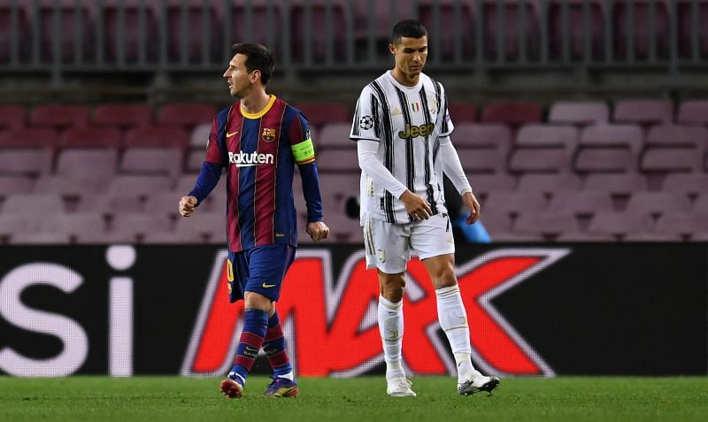 Cristiano Ronaldo and Lionel Messi faced off against each other in the UEFA Champions League clash
