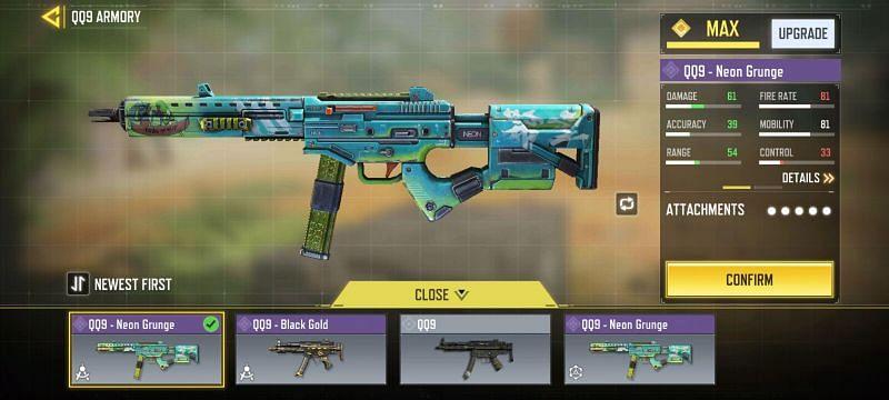 QQ9 Neon Grunge - Image via Call Of Duty Mobile