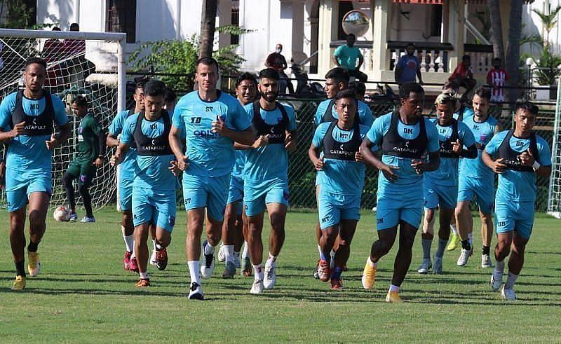 Odisha FC players undergoing training (Courtesy - Odisha FC Twitter)