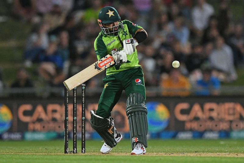 Mohammad Rizwan en route to his highest T20I score on Tuesday