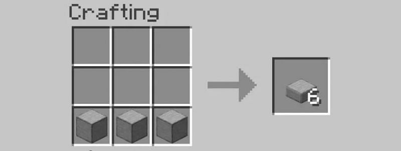 Arrange your smooth stone in Crafting Inventory