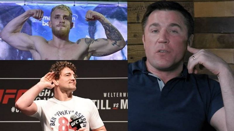 Jake Paul (above left); Ben Askren (below left); Chael Sonnen (right)