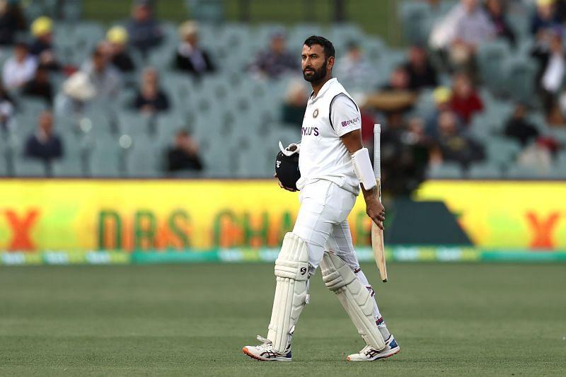 Cheteshwar Pujara fought hard for his 43