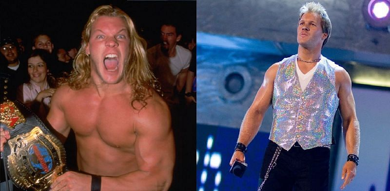 Chris Jericho with long and short hair, side-by-side comparison