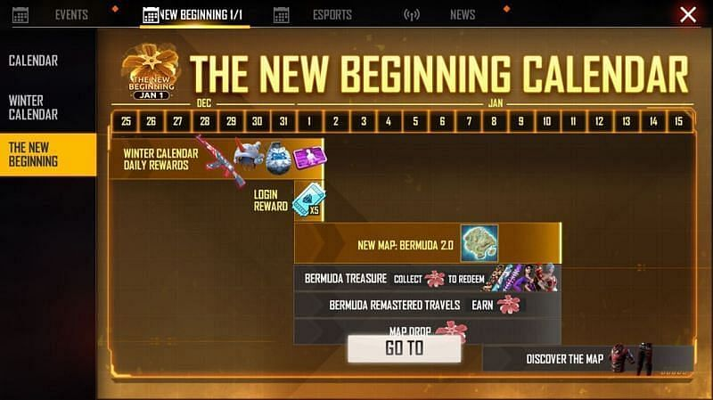 The New Beginning in Free Fire