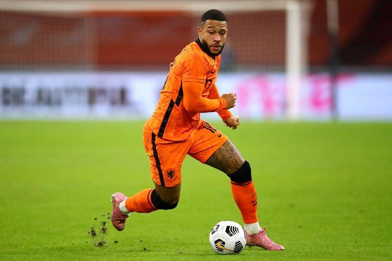 Dutch striker Memphis Depay