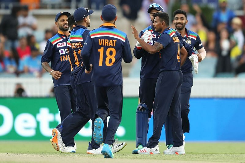 T Natarajan made his debut for India in the 3rd ODI against Australia