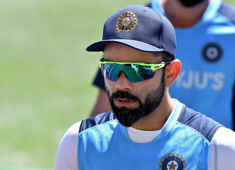 Virat Kohli at a nets session ahead of the first Test against Australia in Adelaide