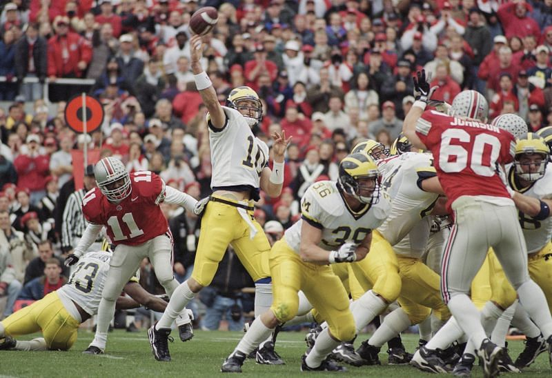 University of Michigan Wolverines quarterback Tom Brady