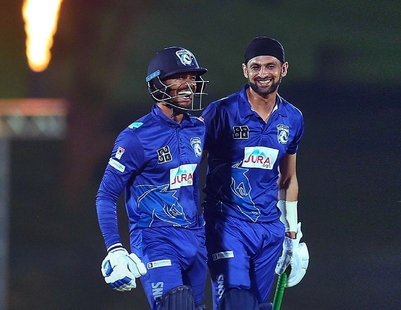 Shoaib Malik (right) was the man of the final for his all-round brilliance
