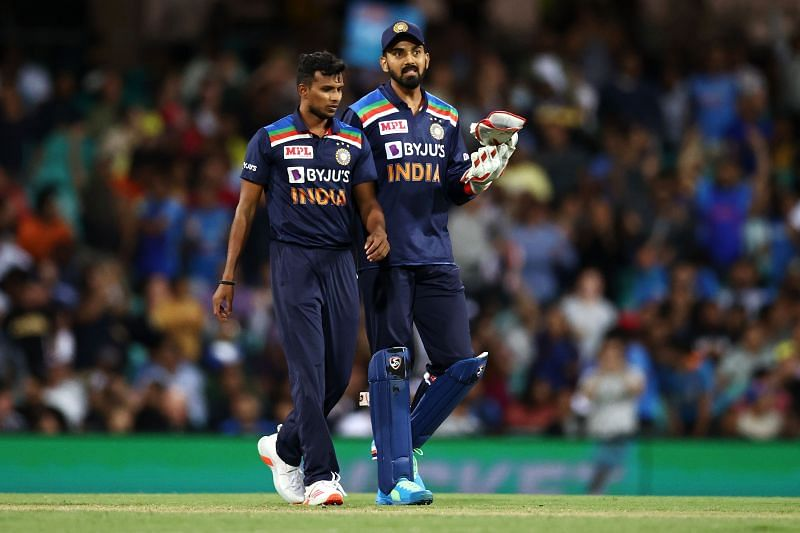 T Natarajan produced a match-haul of 3 for 30 on his T20I debut
