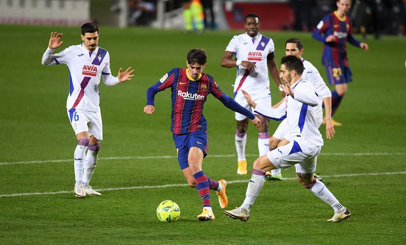 Barcelona ended the year with a 1-1 draw against Eibar