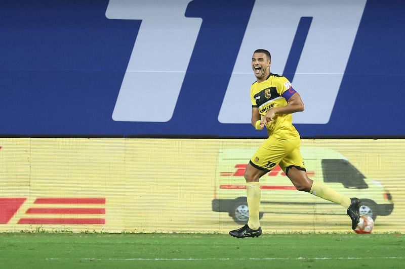 Aridane Santana scored the opening goal for Hyderabad FC against FC Goa (Image Courtesy: ISL Media)