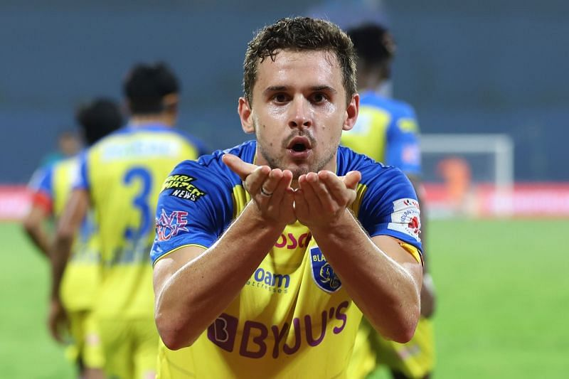 Jordan Murray scored the second goal for Kerala Blasters to seal the tie for them (Image Courtesy: ISL Media)