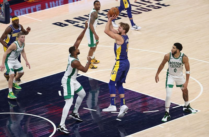 Boston Celtics v Indiana Pacers in their first game