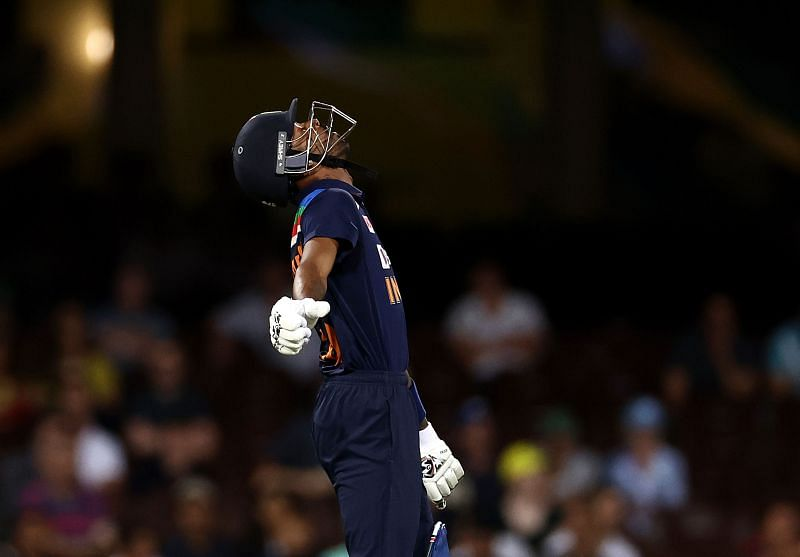 Hardik Pandya smacked three fours and two sixes in his 22-ball 42* at the Sydney Cricket Ground