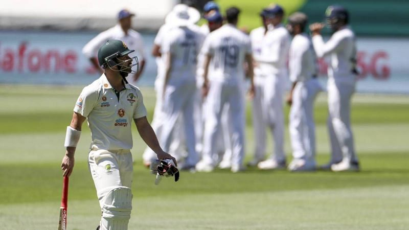 Wade was dismissed after scoring 30 off 39 balls in the 1st innings.