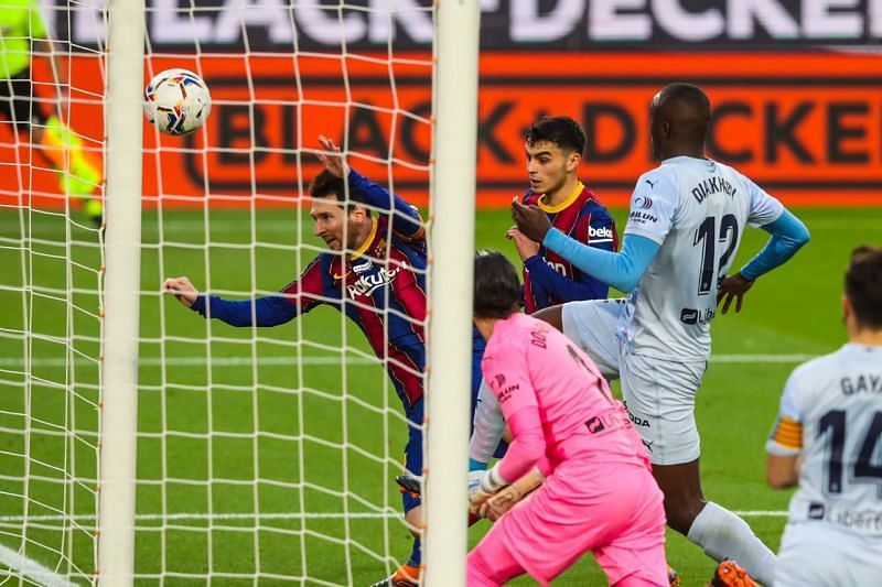 Barcelona were held to a 2-2 draw by Valencia