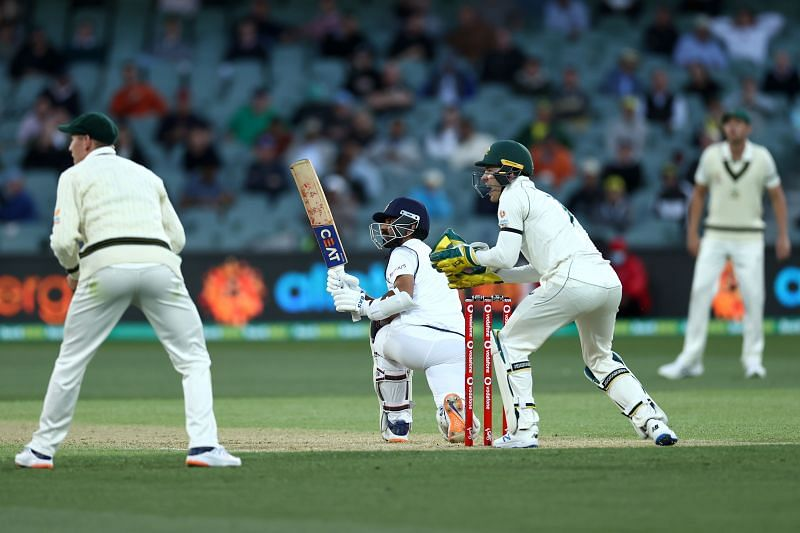 Ajinkya Rahane in action during the Adelaide Test