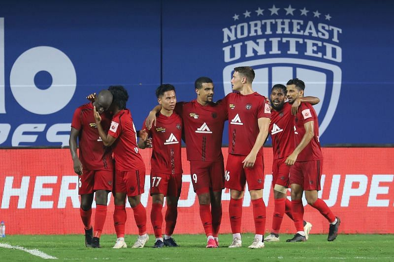 NorthEast United FC impressed defensively once again, but they failed to utilize some simple chances. Courtesy: ISL