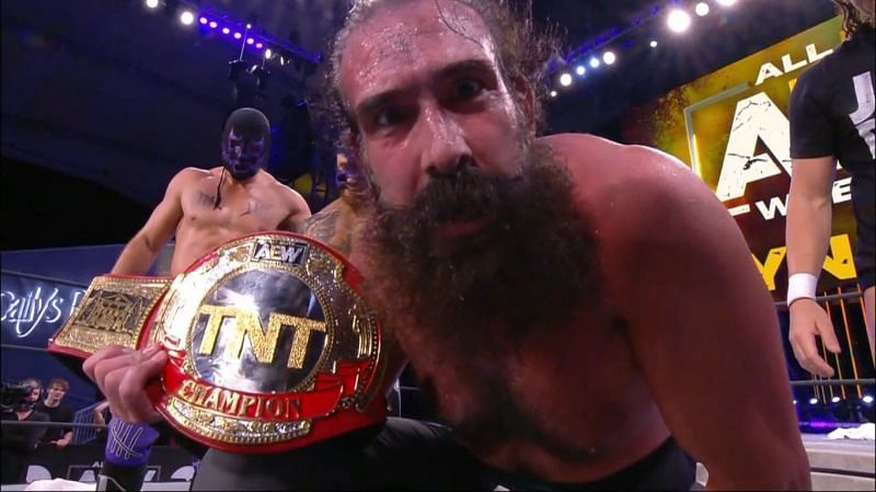 Brodie Lee with the TNT title