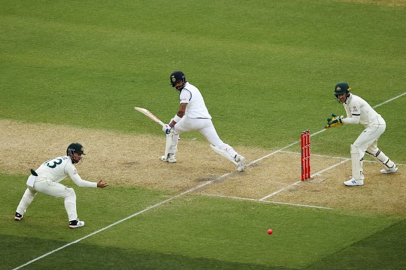 Virat Kohli played a patient knock during the first innings.