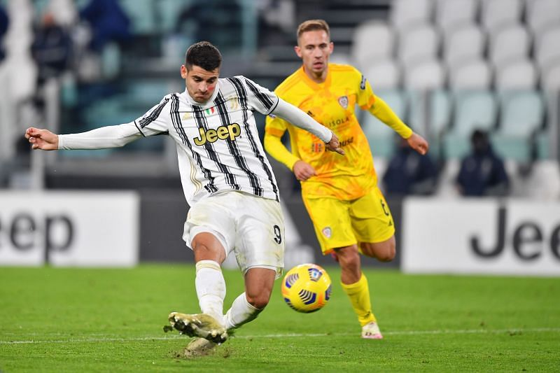 Alvaro Morata has been in scintillating form since he joined Juventus but he scuffed a backheeled effort wide against Atalanta