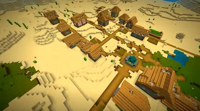 There are two End Portals underneath this Minecraft village (Image via Minecraft & Chill/YouTube)