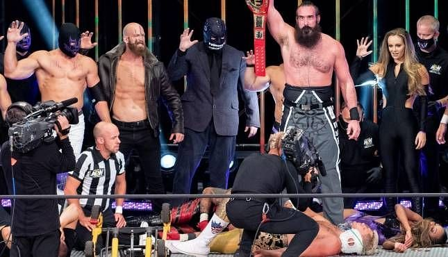 Brodie Lee was taking The Dark Order to new heights (Pic Source: AEW)