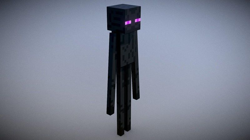 The Enderman in Minecraft is a neutral mob that only attacks the player when provoked