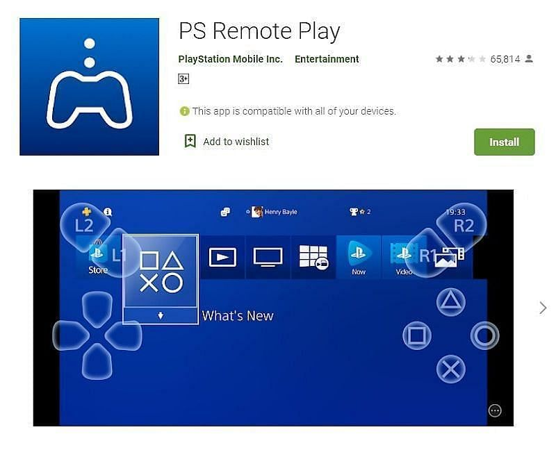 PS Remote Play on the Google Play Store