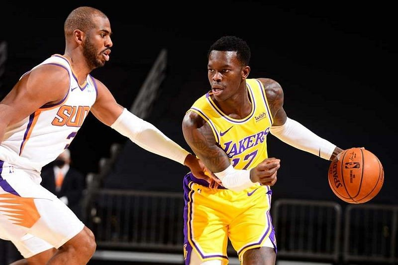 Former teammates Chris Paul and Dennis Schroder playing against each other [Image: NBA.com]