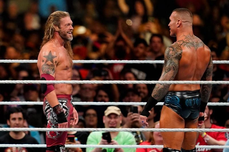Edge and Randy Orton in WWE