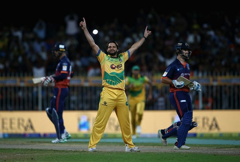 Shahid Afridi played for the Pakhtoons in the T10 League three years ago.