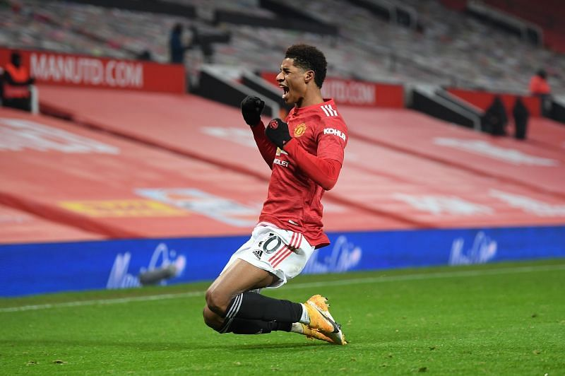 Marcus Rashford caught a last-breath winner with a deflected strike in the 93rd minute.