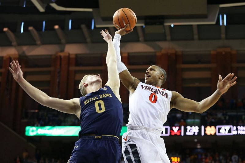 Virginia Cavaliers and Notre Dame Fighting Irish will face off at the Purcell Pavilion on Wednesday