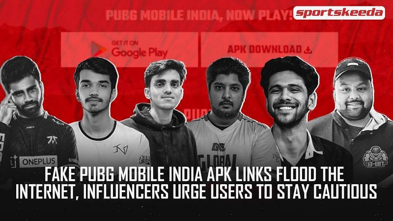 Influencers urge users to stay cautious from fake links to download PUBG Mobile India
