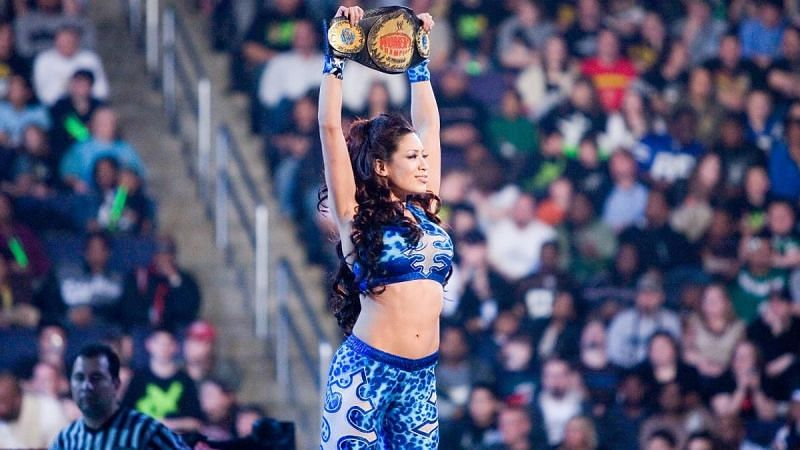 Melina is a two-time Divas Champion and three-time Women