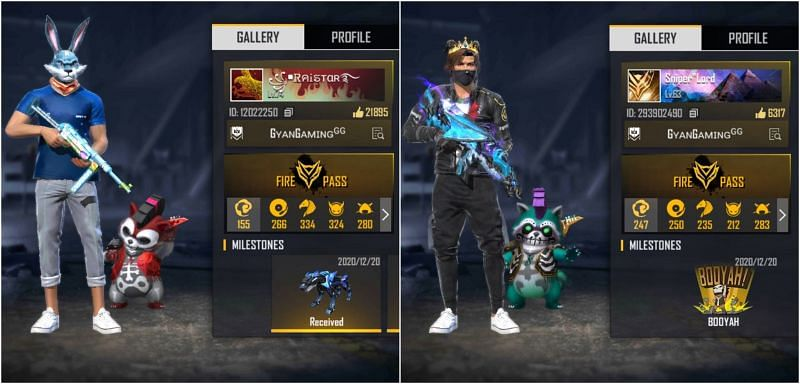 Raistar vs. Sniper Lord: Who has the better stats in Free Fire?