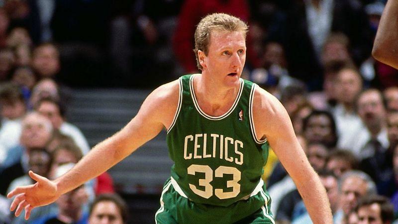 Larry Bird won three titles with the Celtics.