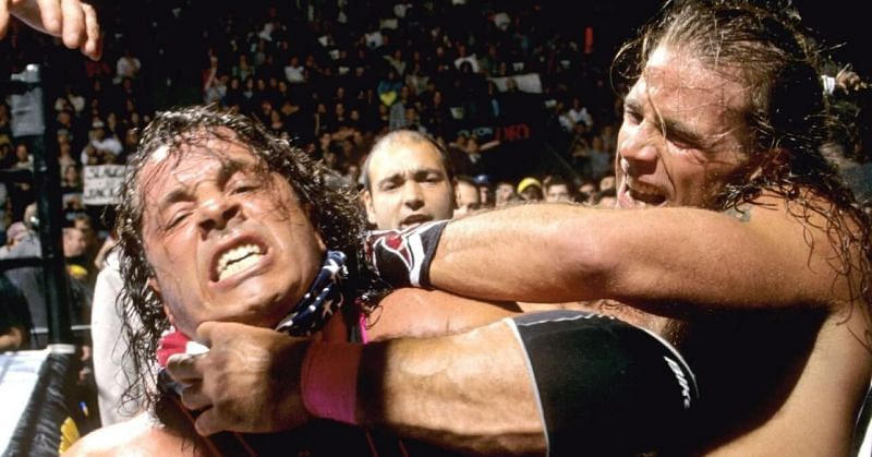 The infamous rivalry between Shawn Michaels and Bret Hart