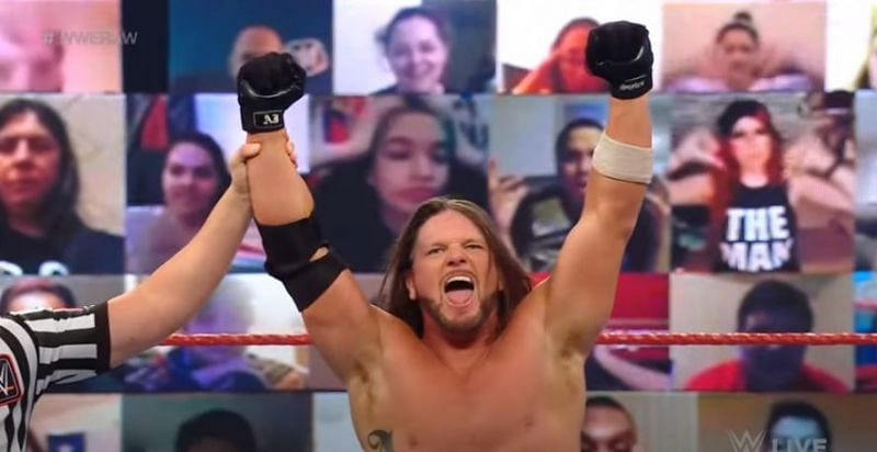 AJ Styles on WWE RAW