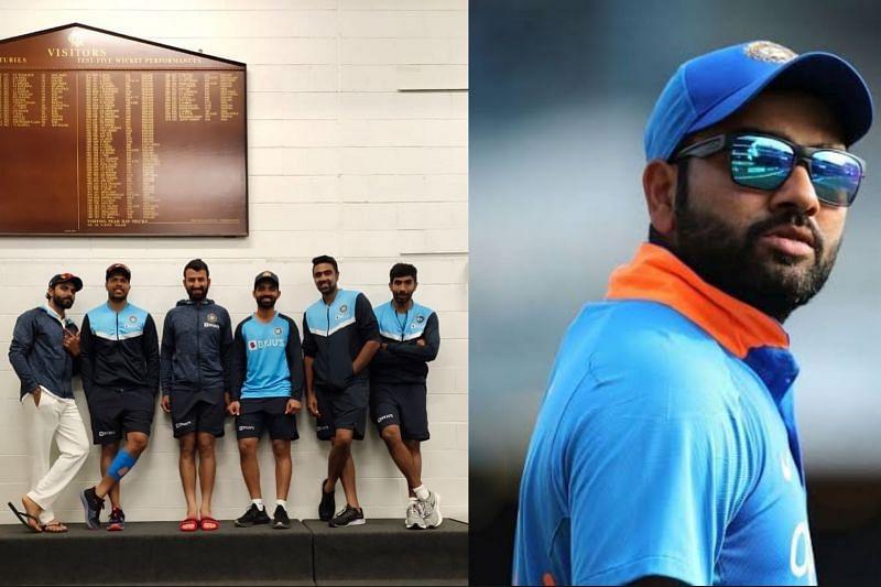 Rohit Sharma and Ashwin trolled Pujara for his stiff pose.