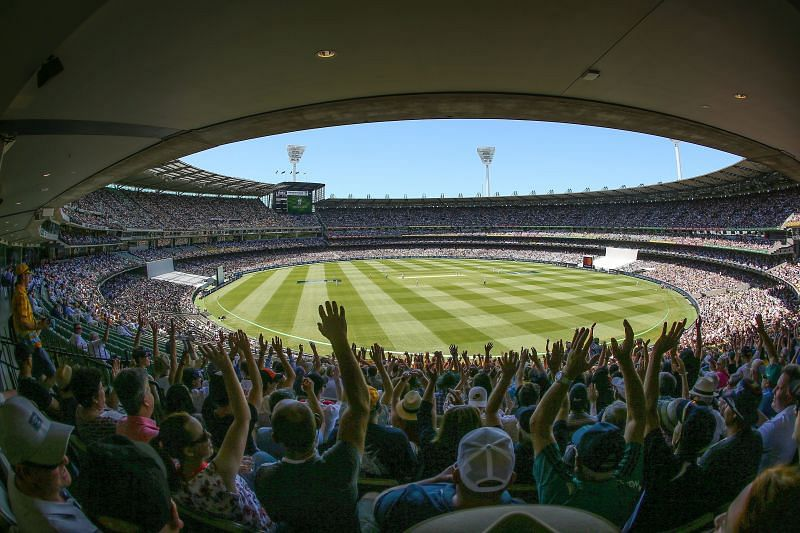 A packed MCG on Boxing Day during the 2018-18 Ashes